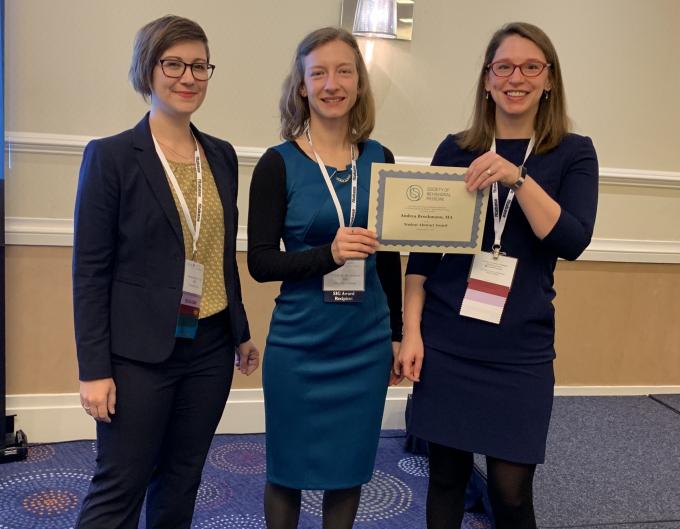 Andrea Brockmann wins Top Student Abstract Award OED SIG SBM 2019