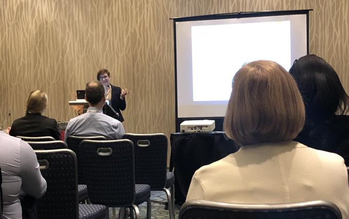 Dr. Kathryn Ross presenting at SBM 2019